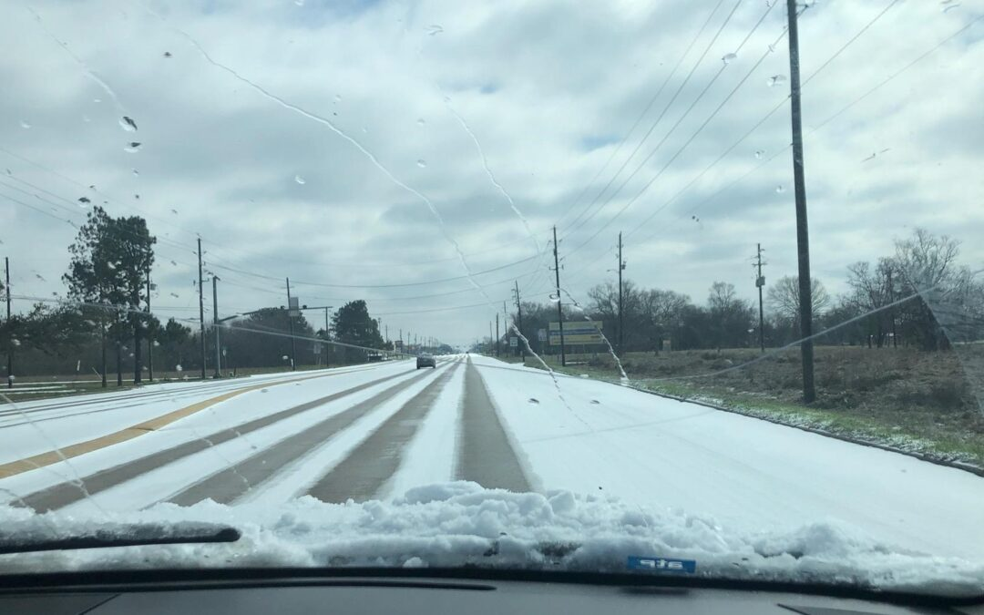 Winter Storm Hits Houston